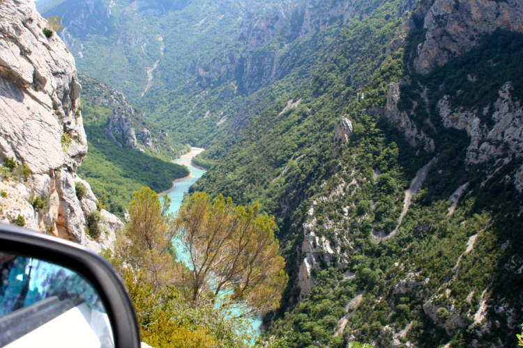 On winding roads with breathtaking views ...