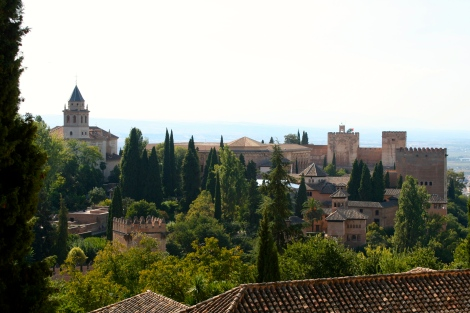 Ancient rooftops of 11thC Alhambra-PSandsPhotos
